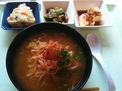 野菜辛味味噌ラーメン@社食