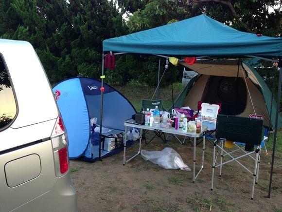 キャンプ@大原オートキャンプ場